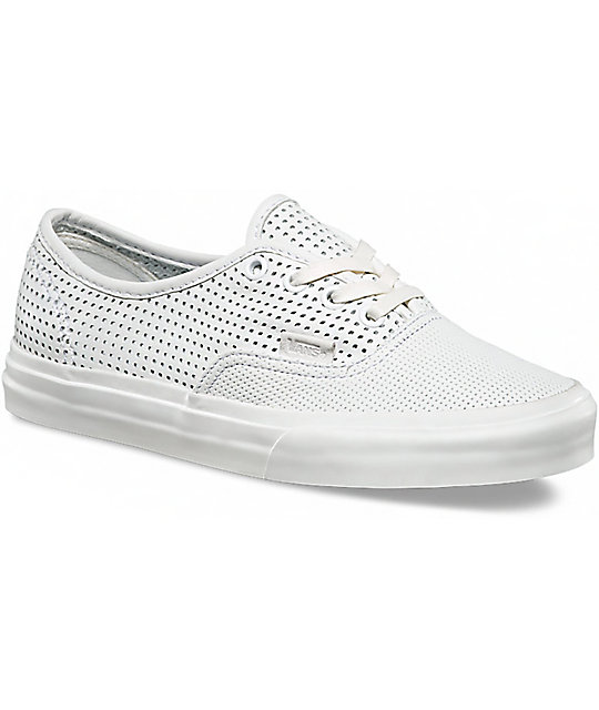 420698e18ca Vans Authentic DX Blanc De Blanc Perforated Shoes