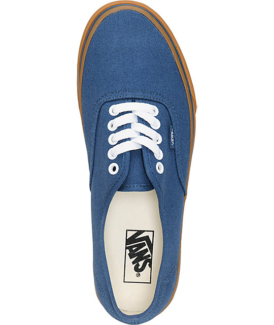 Vans Authentic Dark Denim & Gum Skate Shoes