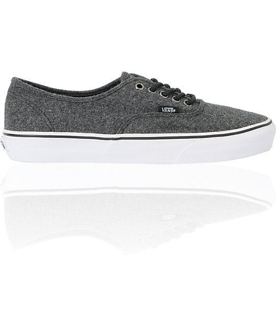 Vans Authentic Dark Grey Wool Skate Shoes