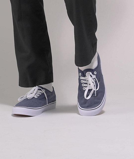 Vans Authentic Deboss OTW Dress Blues Skate Shoes | Zumiez