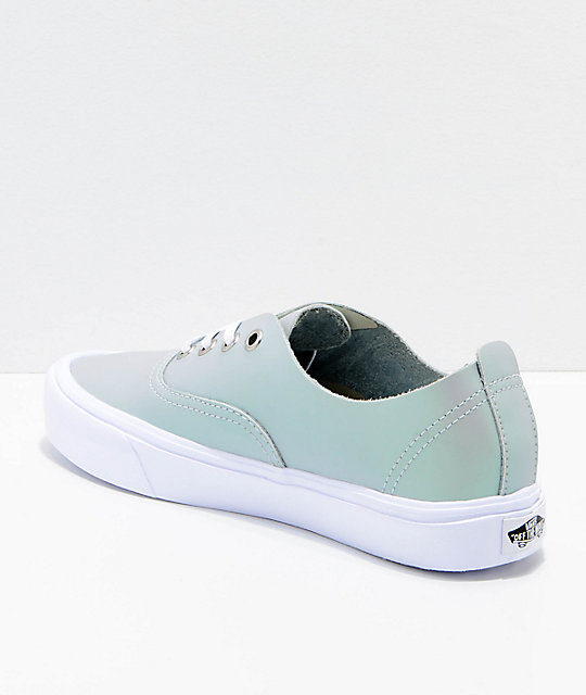 Vans Authentic Decon Lite Iridescent Muted Metallic Grey & White Skate Shoes