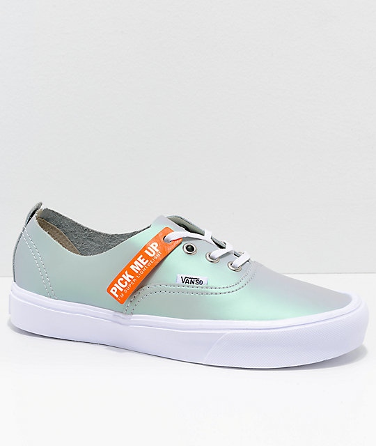 713144ee85 Vans Authentic Decon Lite Iridescent Muted Metallic Grey   White Skate Shoes