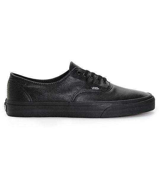 zapatillas vans hombre piel