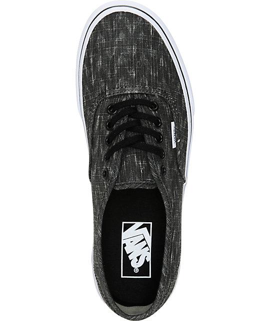 137dea1e22 ... Vans Authentic Denim Chevron Shoes ...