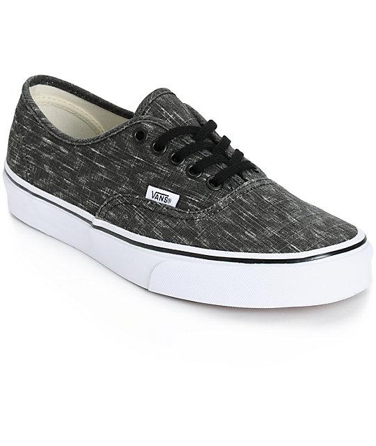 6590ae7389 Vans Authentic Denim Chevron Shoes