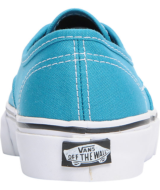 Vans Authentic Enamel Blue Lace Up Shoes