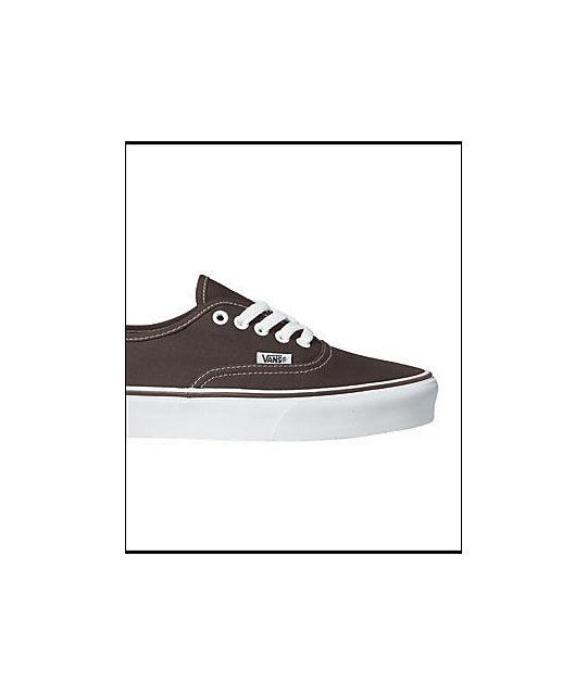 f93c9f0e03 ... Vans Authentic Espresso Skate Shoes