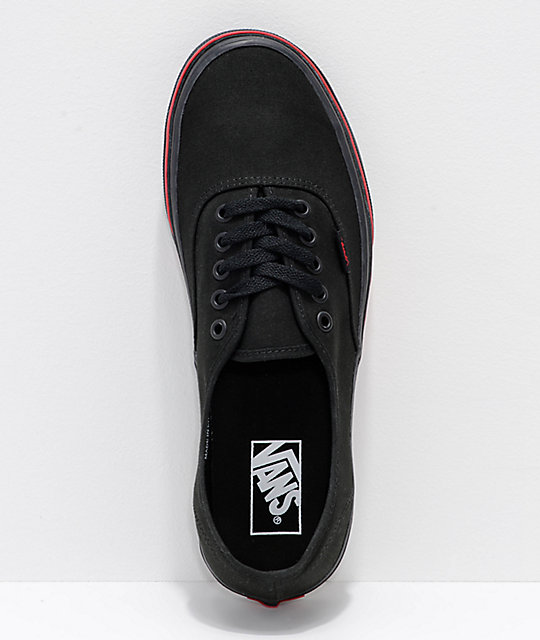 Vans Authentic Flame Wall Black Skate Shoes