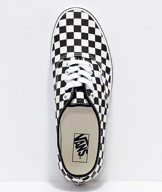 4309a683b92ae1 ... Vans Authentic Golden Coast   Black Checkered Skate Shoes ...