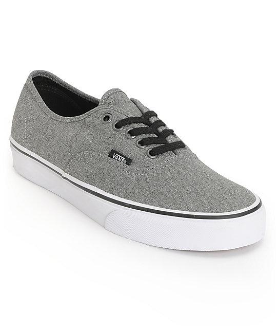d0eda02618 Vans Authentic Grey   White Skate Shoes