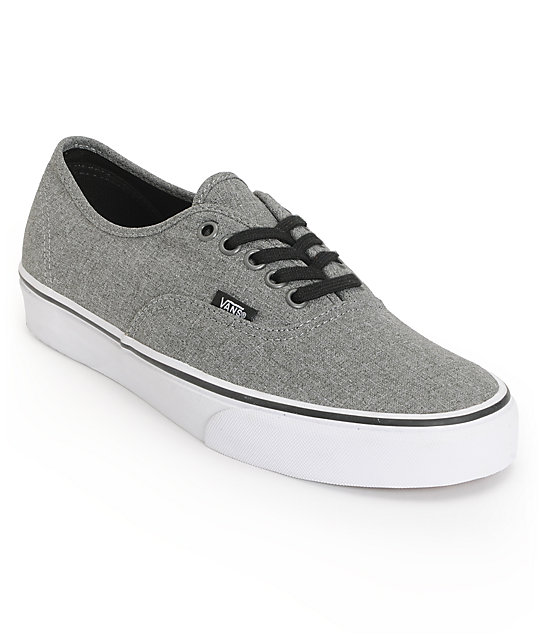 727b1c578f Vans Authentic Grey   White Skate Shoes