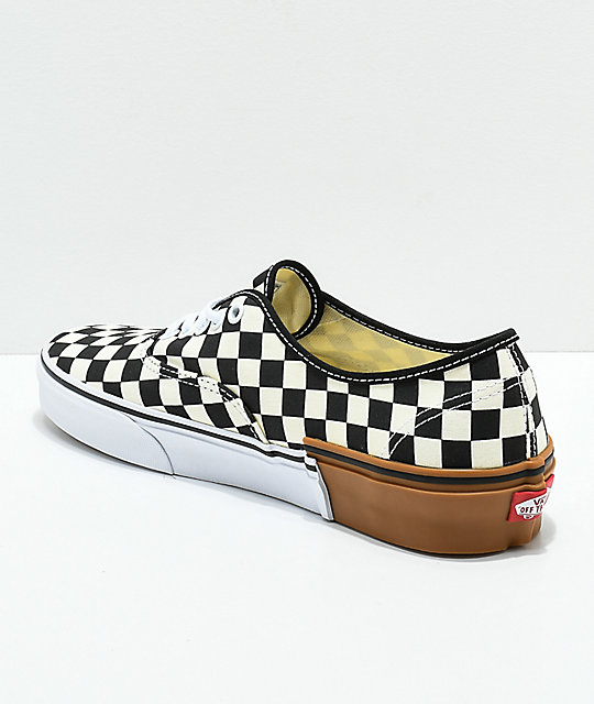 Vans Authentic Gum Block zapatos de skate a cuadros