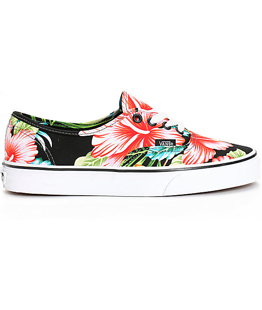 1d8f50f50d ... Vans Authentic Hawaiian Floral Black Shoes