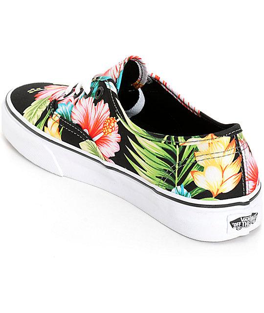 d984b5e564 ... Vans Authentic Hawaiian Floral Black Shoes ...
