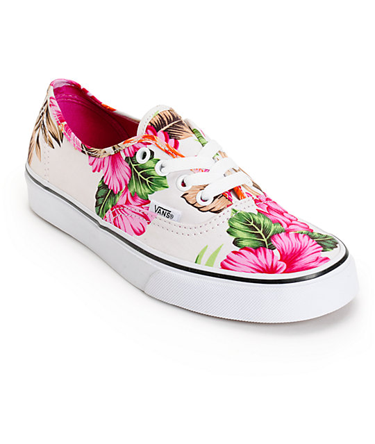 stable quality online shop new style Vans Authentic Hawaiian Floral Shoes