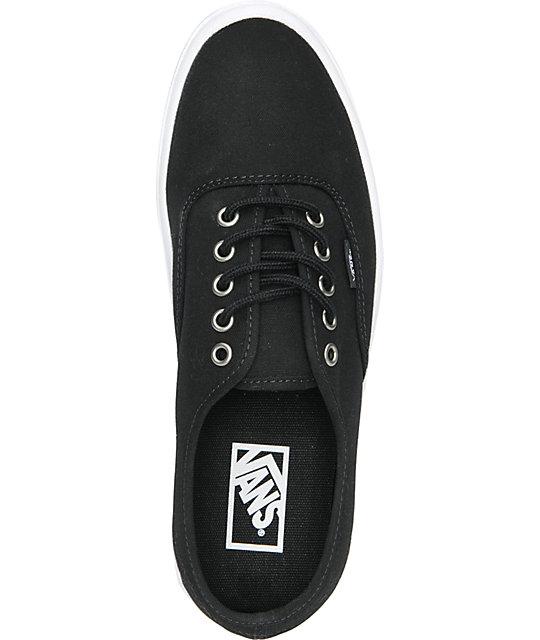 4ae65fd398 ... Vans Authentic Lite Black   White Skate Shoes ...