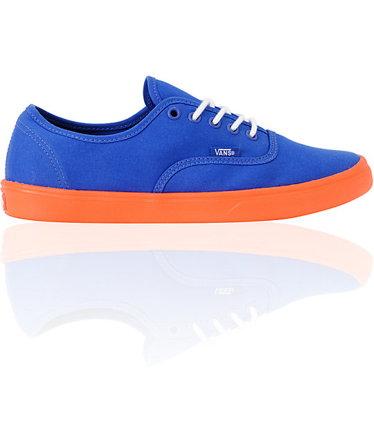 Vans Authentic Lite Blue & Orange Skate Shoes