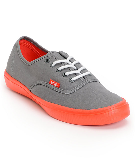 719856de4c Vans Authentic Lite Grey   Coral Skate Shoes