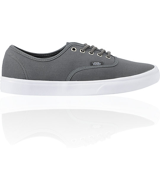 Vans Authentic Lite Grey & White Skate Shoes