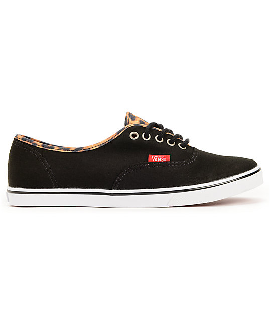 ... Vans Authentic Lo Pro Black   Leopard Print Shoes a17af8fc7