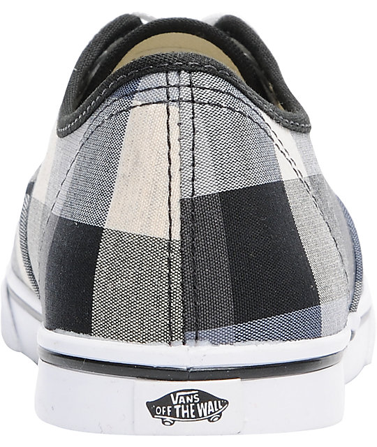 Vans Authentic Lo Pro Black Buffalo Plaid Shoes