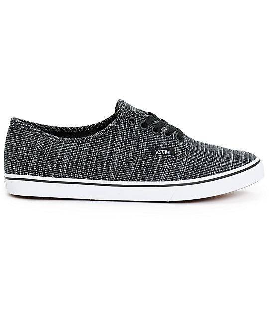 ... Vans Authentic Lo Pro Black Chambray Shoes f8946bb7dd