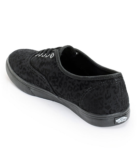 7080f6b516fd8a ... Vans Authentic Lo Pro Black Cheetah Print Shoes ...