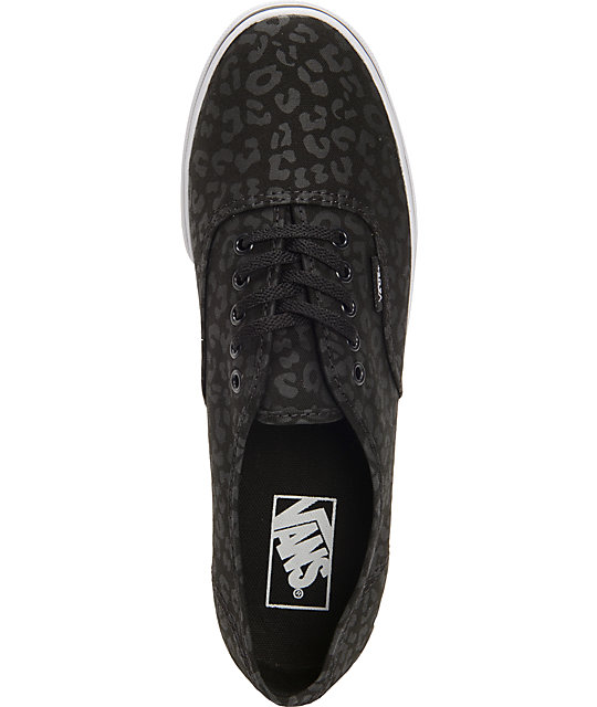 ... Vans Authentic Lo Pro Black Leopard Print Shoes ... 7f9d6921d