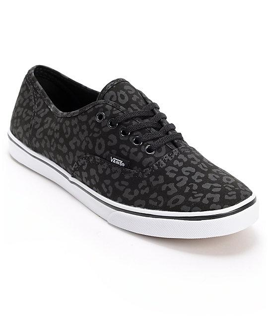 Vans Authentic Lo Pro Black Leopard Print Shoes