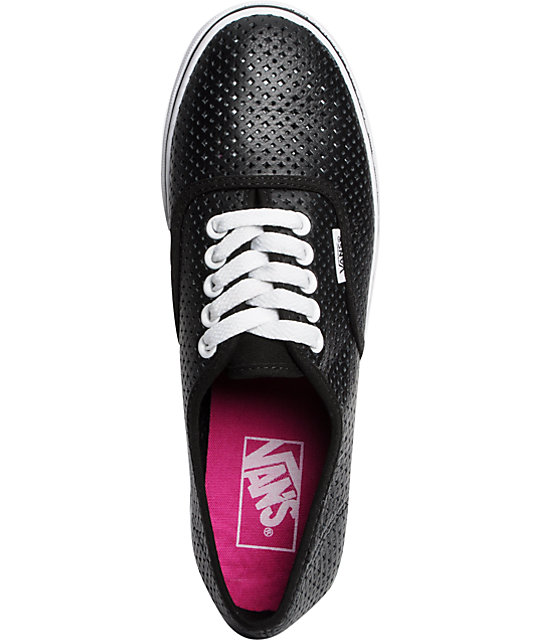 Vans Authentic Lo Pro Black Perf Shoes
