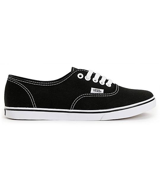 490f309928 ... Vans Authentic Lo Pro Black Shoes ...