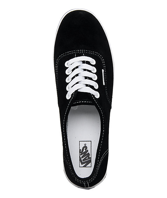 Vans Authentic Lo Pro Black Suede Shoes