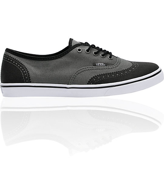 Vans Authentic Lo Pro Grey Printed Oxford Shoes