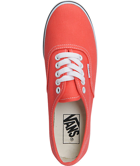 Vans Authentic Lo Pro Hot Coral & True White Shoes