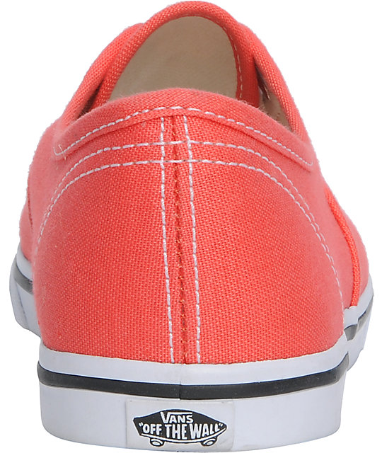 371882b01d ... Vans Authentic Lo Pro Hot Coral   True White Shoes ...