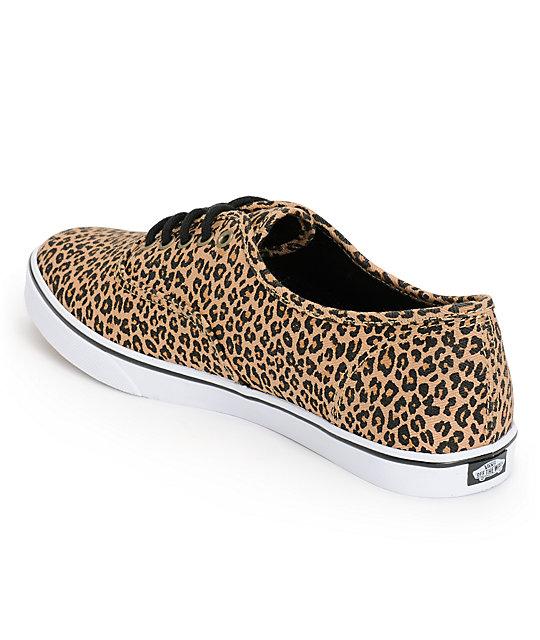 6cf9c94ecc448f ... Vans Authentic Lo Pro Leopard Herringbone Shoes ...