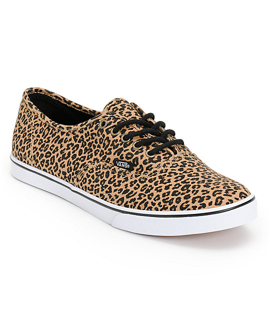 black vans authentic lo pro animal print plimsolls nz
