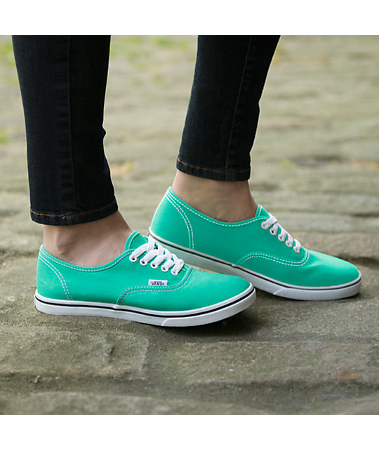 793b6edd342c05 ... Vans Authentic Lo Pro Mint Leaf   White Canvas Shoes