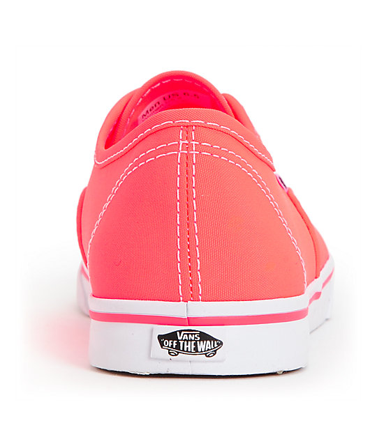 Vans Authentic Lo Pro Neon Coral Shoes