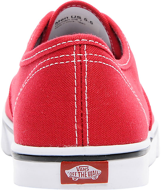 Vans Authentic Lo Pro Red Shoes