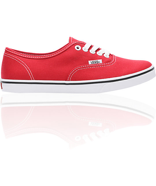 6522eef30873 Vans Authentic Lo Pro Red Shoes