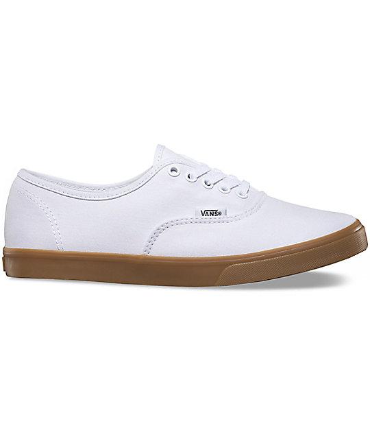 33b7225f2f3 ... Vans Authentic Lo Pro White   Gum Shoes ...