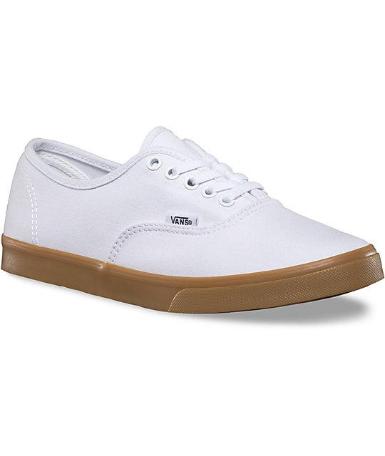 2b14adfbdc7 Vans Authentic Lo Pro White   Gum Shoes