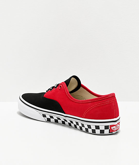 Vans Authentic Logo Pop Black & Red Skate Shoes