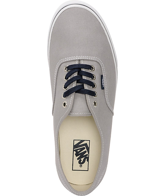 Vans Authentic Mid Gray & Navy Skate Shoes