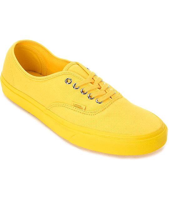 yellow vans zumiez