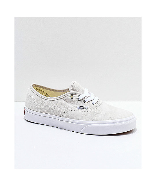 9a65ff414629cb Vans Authentic Moonbeam   True White Pig Suede Skate Shoes