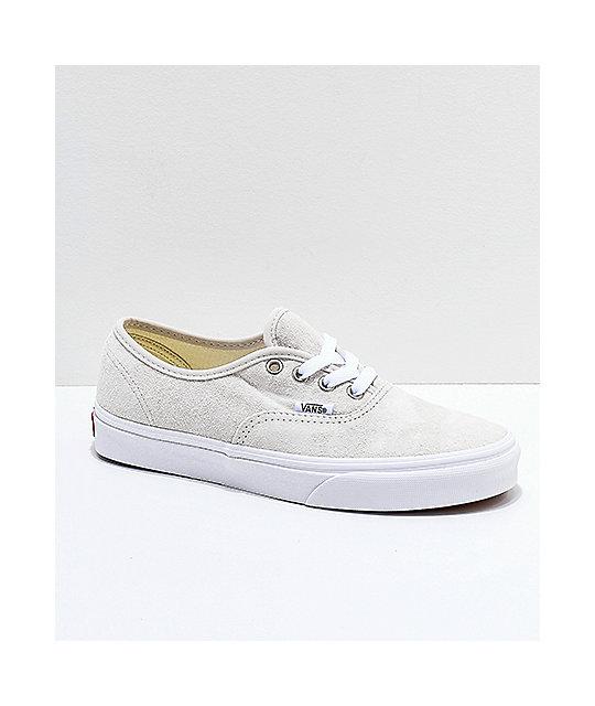 Vans Authentic Moonbeam &Amp; True White Pig Suede Skate Shoes by Vans