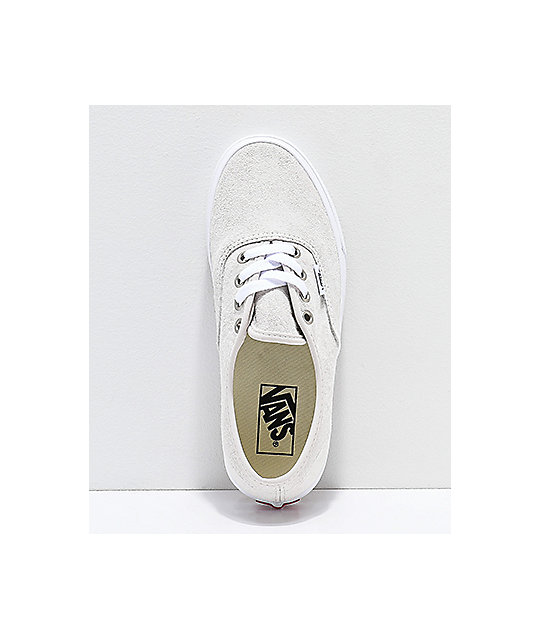 vans authentic oversized silver pine & white skate shoes