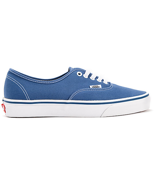 Vans Authentic Navy Canvas Skate Shoes